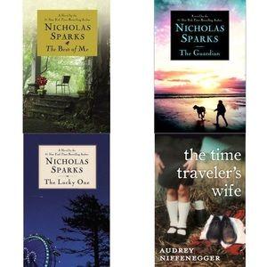 Lot of 4 romance novels, including Nicholas Sparks